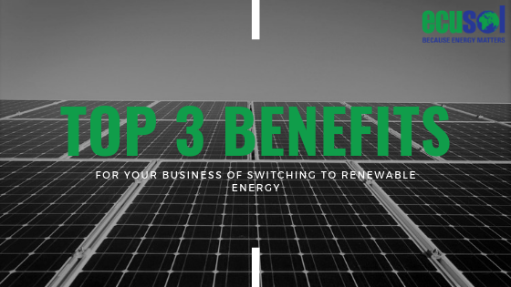 Top 3 Benefits for Your Business of Switching to Renewable Energy
